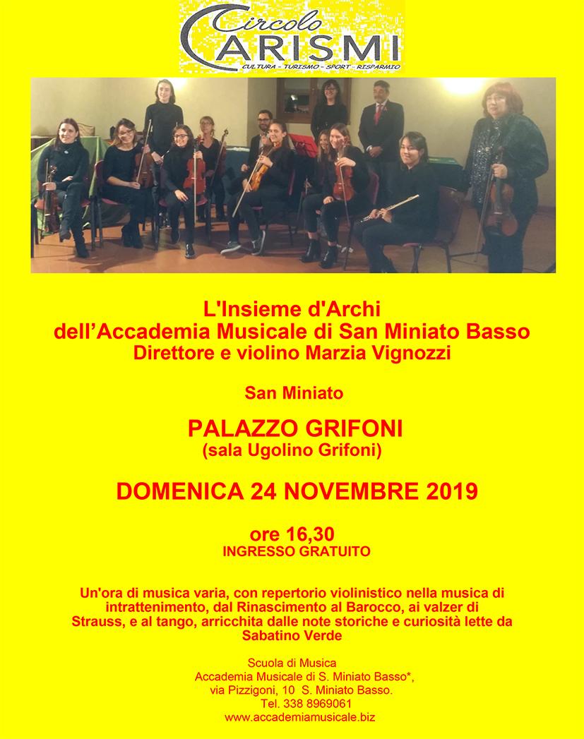Concerto al Palazzo Grifoni – 24 Novembre 2019